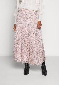 Lauren Ralph Lauren - POLY CRINKLE SKIRT - Maxiskjørt - pink - 0