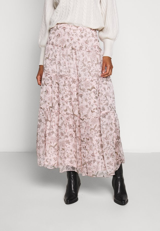 POLY CRINKLE SKIRT - Maxi skirt - pink