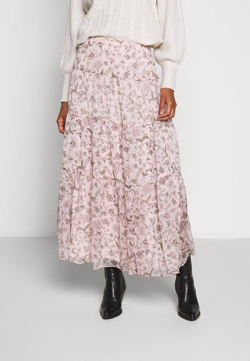 Lauren Ralph Lauren - POLY CRINKLE SKIRT - Maxiskjørt - pink