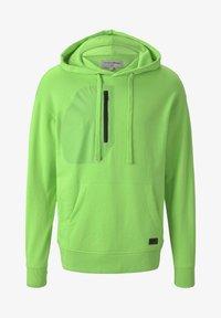 TOM TAILOR DENIM - STRICK & SWEATSHIRTS OVERSIZED KAPUZENSWEATER - Hoodie - neon lime green - 5