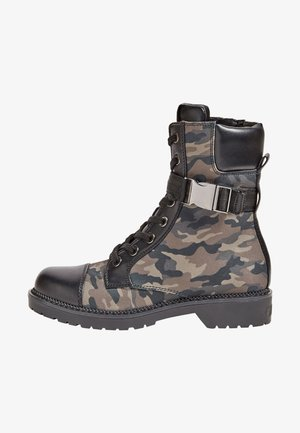 Lace-up boots - camouflage