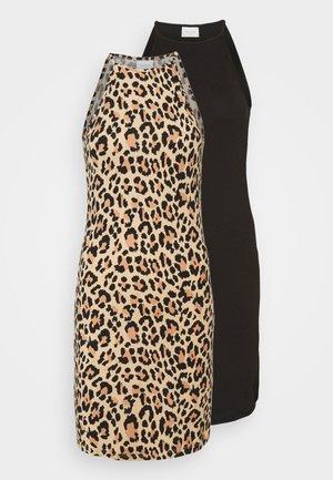 VIBE SINGLET DRESS 2 PACK - Robe en jersey - black/black