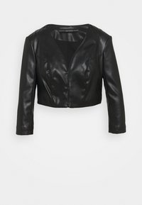Guess - GEORGIA CROPPED - Faux leather jacket - jet blac - 4