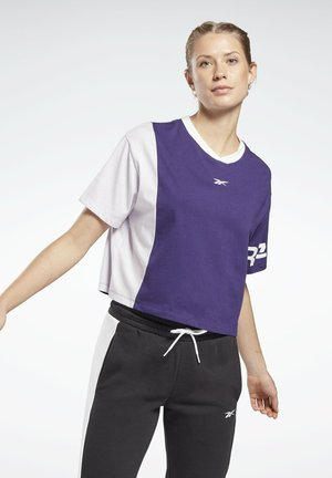 LINEAR LOGO T-SHIRT - Print T-shirt - purple