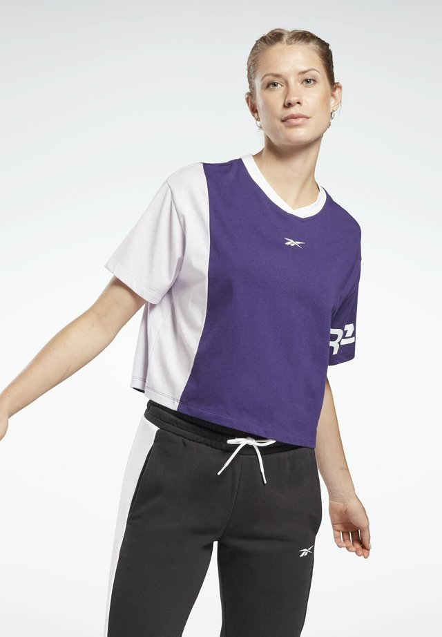 LINEAR LOGO T-SHIRT - T-shirt con stampa - purple