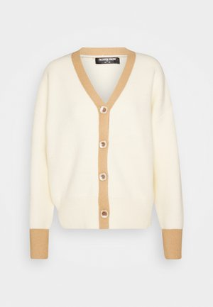 CONTRASSY - Chaqueta de punto - cream/brown