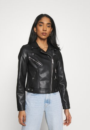 VMHOPE COATED JACKET - Faux leather jacket - black