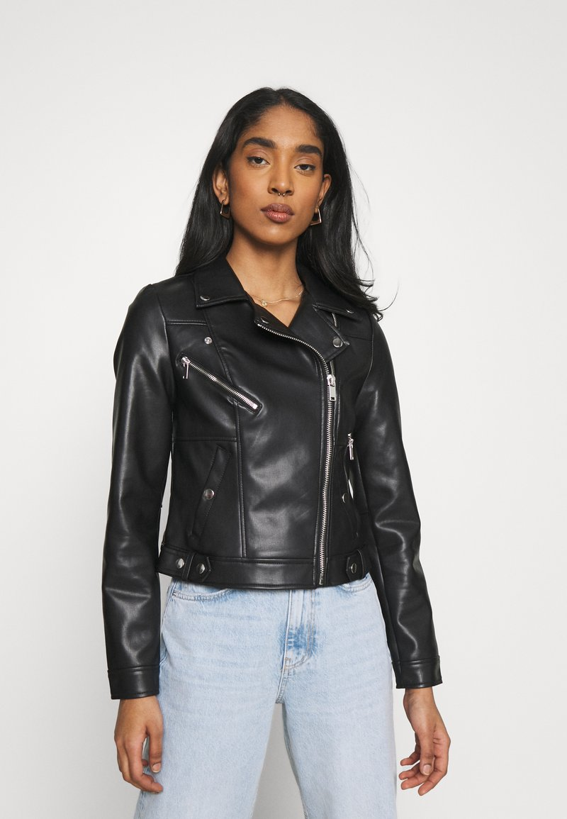 Vero Moda - VMHOPE COATED JACKET - Faux leather jacket - black