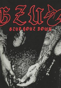 Grimey - GRMY X GZUZ UNISEX TEE - T-shirt med print - black - 2