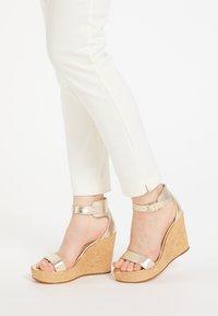 IZIA - High heeled sandals - gold - 0