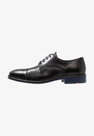 GRIFFIN - Smart lace-ups - schwarz/ocean