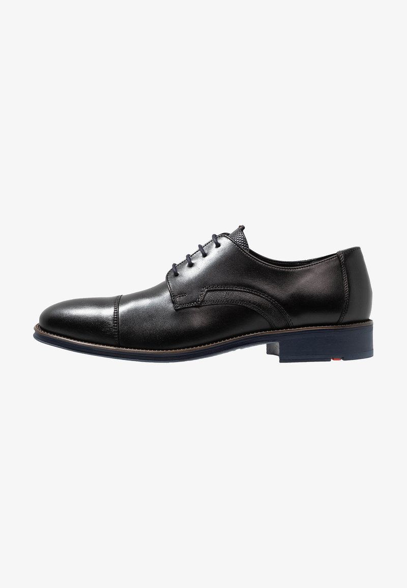 Lloyd - GRIFFIN - Smart lace-ups - schwarz/ocean
