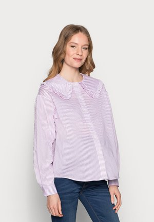 PCMHUNDA - Button-down blouse - bright white/orchid