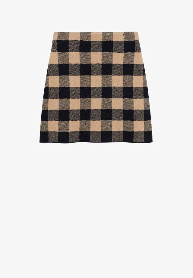 SCARLATA - A-line skirt - marron moyen