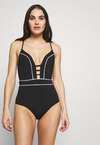 JETS BY JESSIKA ALLEN - PLUNGE - Swimsuit - black/white - 0
