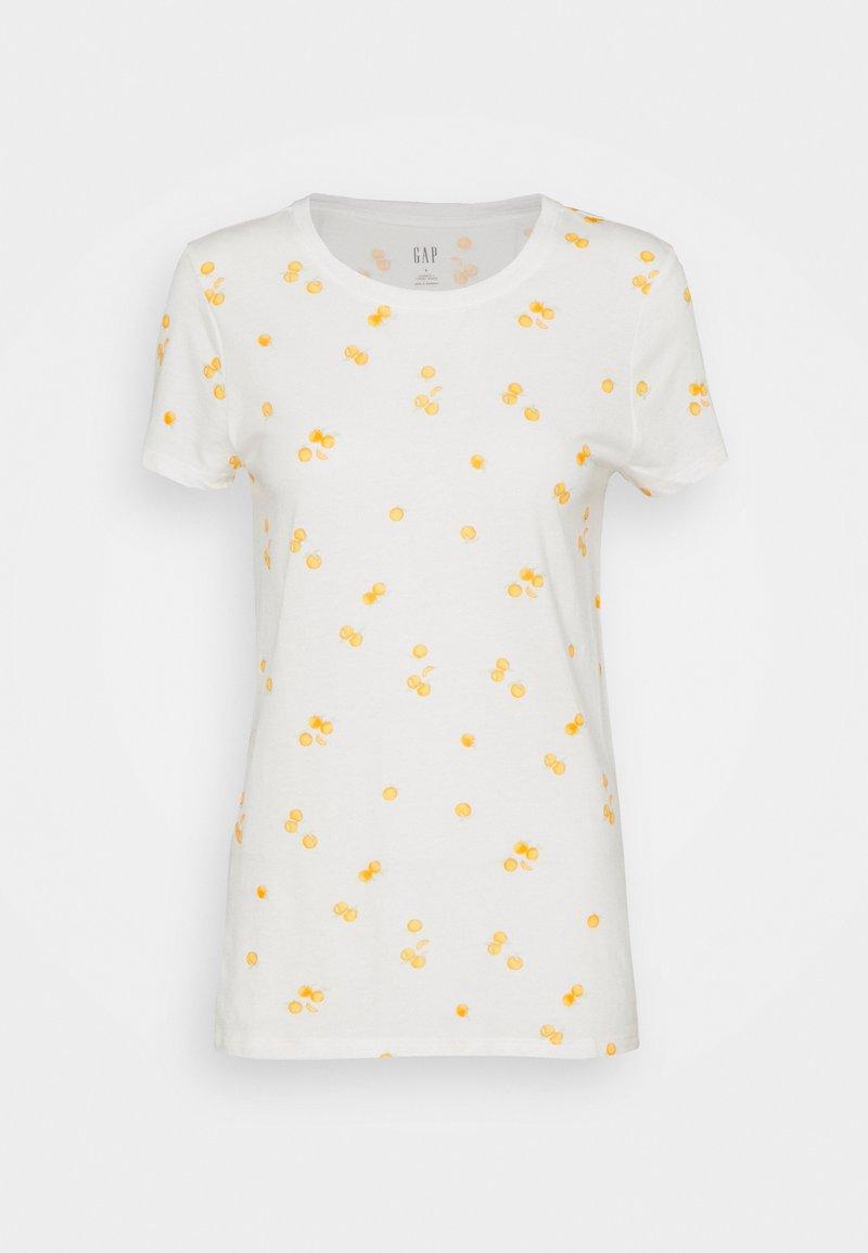 GAP - FAV CREW - Print T-shirt - offwhite