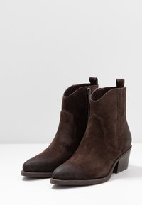Marco Tozzi - Cowboy/biker ankle boot - mocca - 4