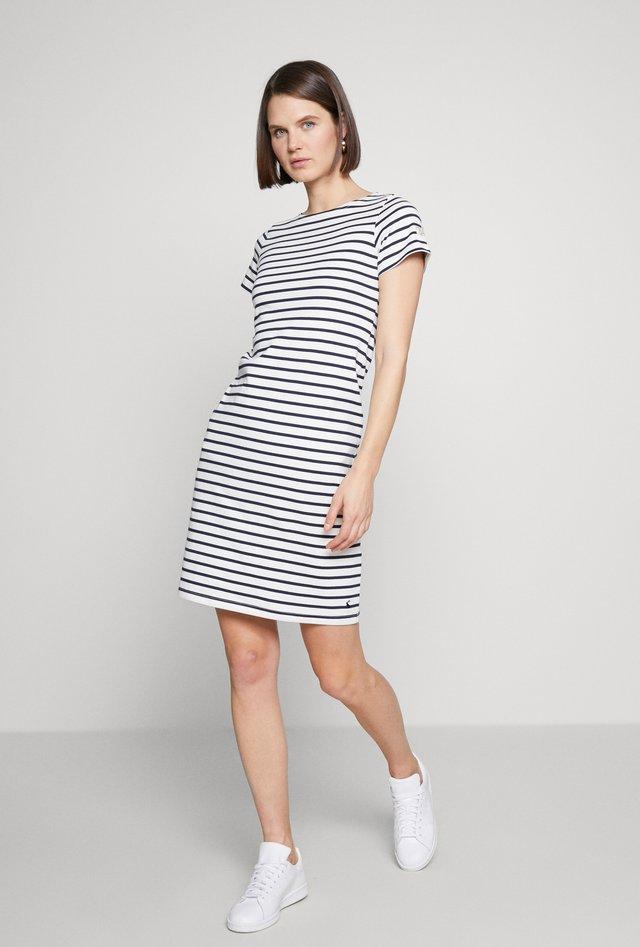 RIVIERA LONG - Jersey dress - off-white/dark blue