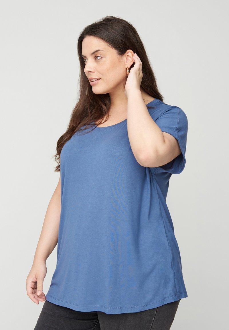 Zizzi - Basic T-shirt - blue
