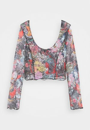 FLORAL FISH TOP - Topper langermet - multi-coloured