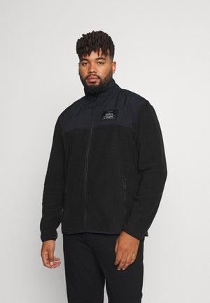 DYLAN PLUS - Fleece jacket - black
