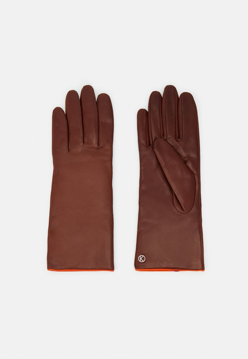 Otto Kessler - Gloves - tobacco/vermillion orange