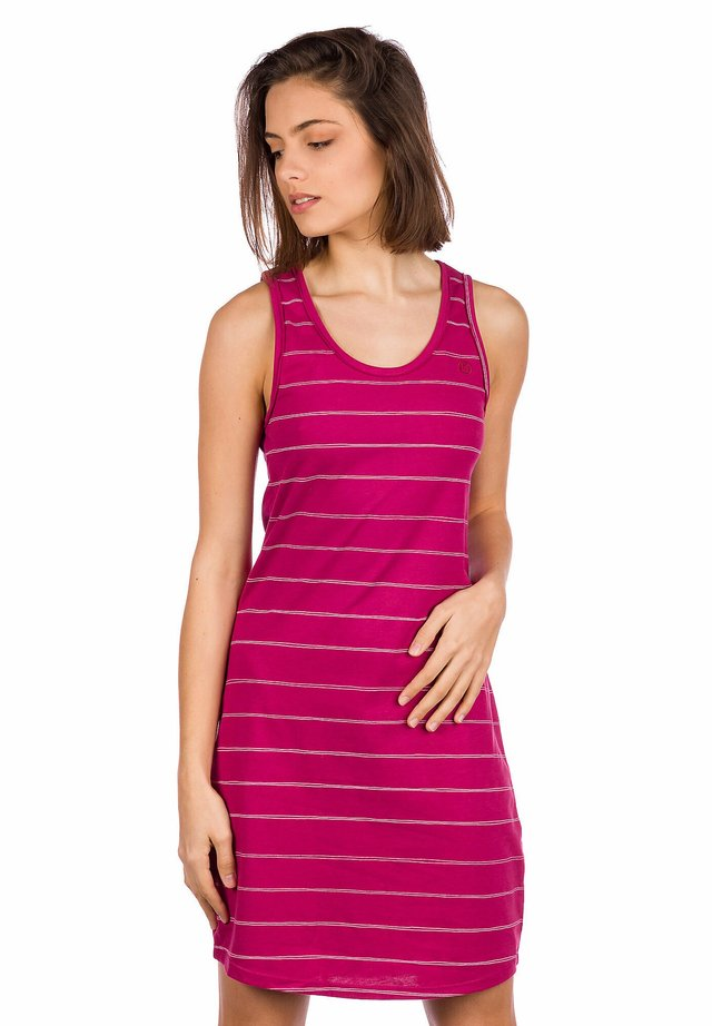 Jersey dress - beaujolais/stripe