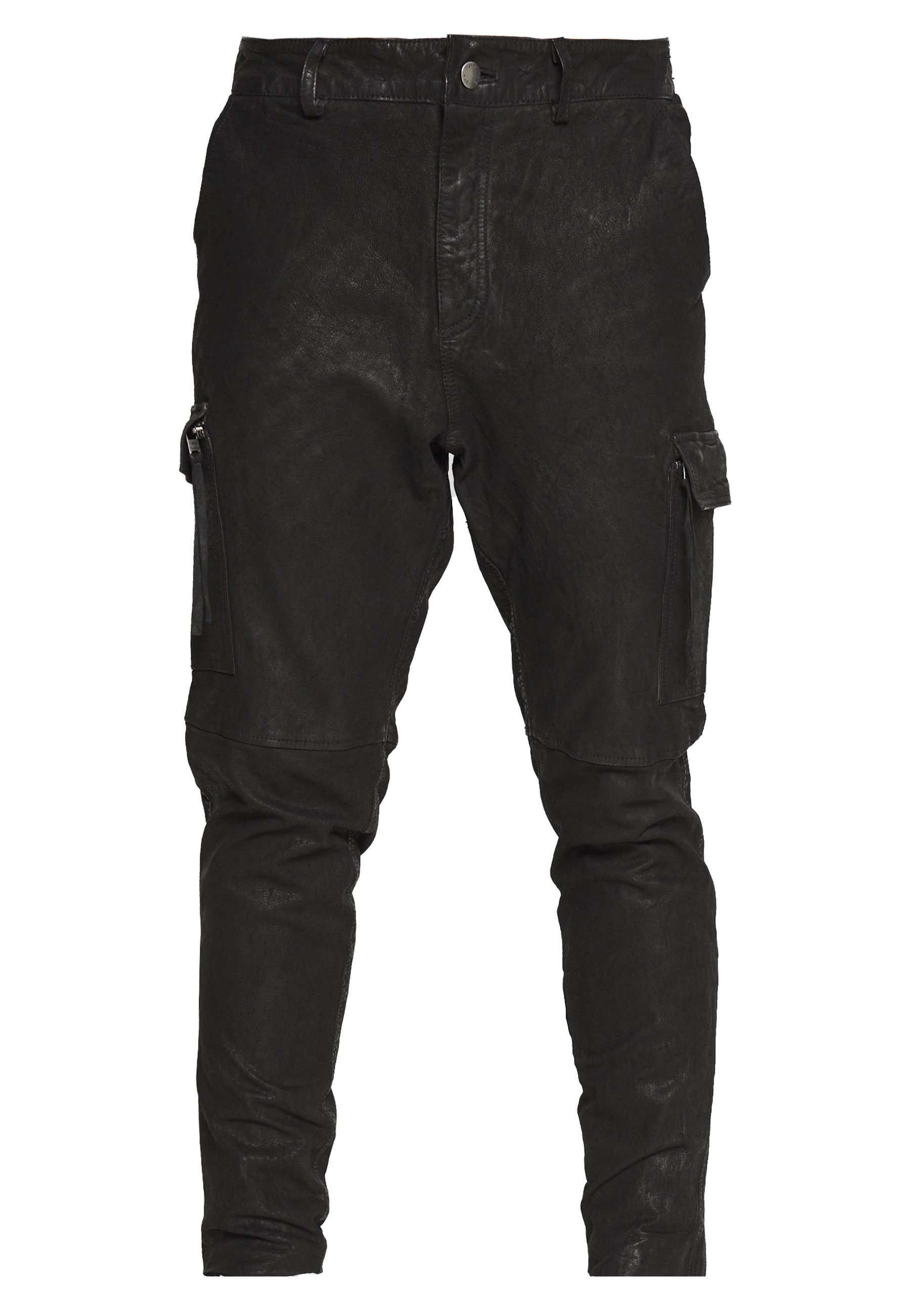 Tigha ZENO - Pantalon en cuir - black