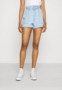 Levi's® - HIGH WAIST A LINE - Denim shorts - throw some shade - 0
