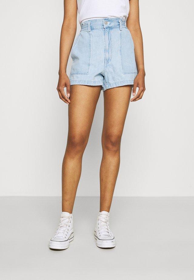 HIGH WAIST A LINE - Denim shorts - throw some shade