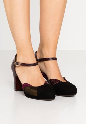JAMEL - Pumps - lame bronce/antegrape/teseo grape