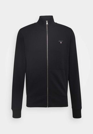 THE ORIGINAL FULL ZIP - Mikina na zip - black