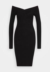 Even&Odd Petite - Shift dress - black - 4