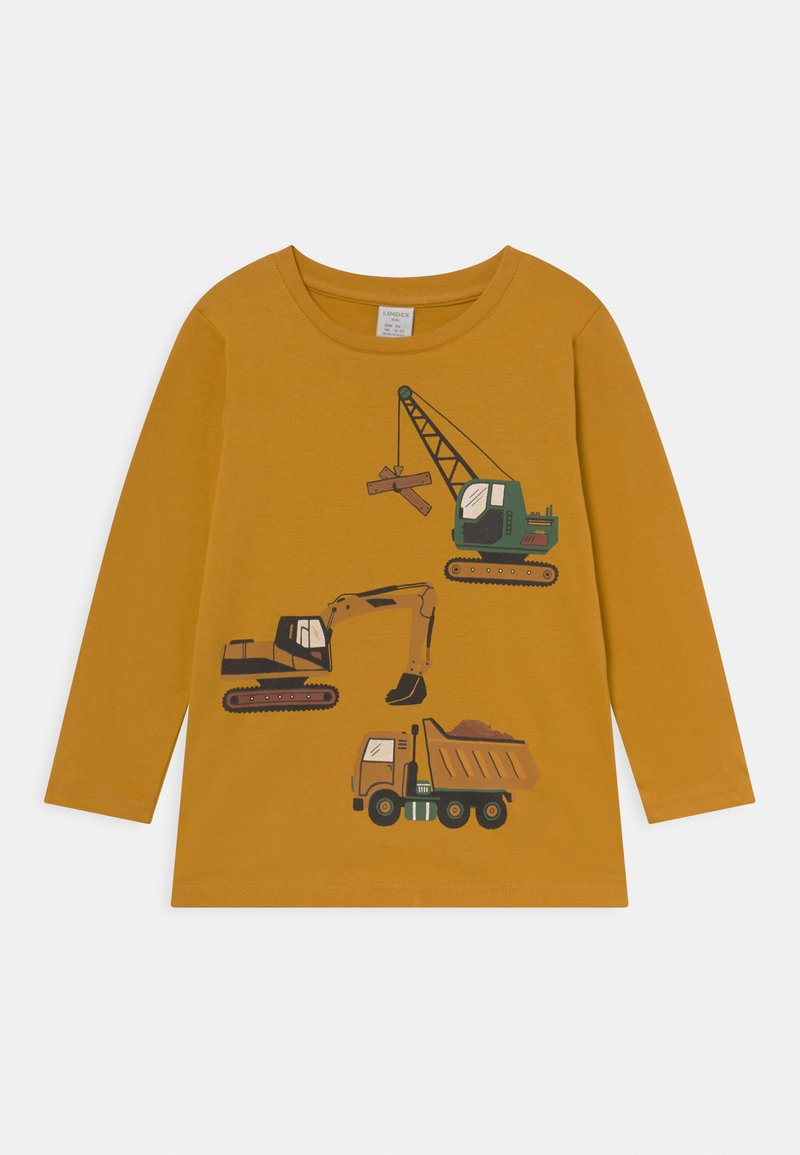 Lindex - MINI VEHICLES - Long sleeved top - dusty yellow