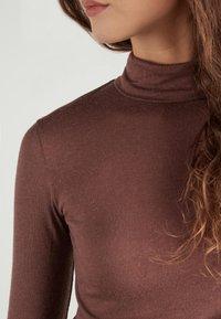 Tezenis - HOCH GESCHNITTENES - Long sleeved top - braun - 044u - brown - 3