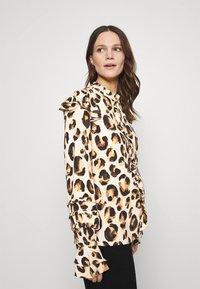 Fabienne Chapot - LEO FRILL BLOUSE - Long sleeved top - beige/black/brown - 4