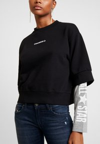 Converse - CREW DOUBLE SLEEVES ALL STAR - Sweatshirt - black/boston melange - 3