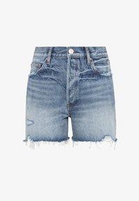 HALLHUBER - MIT DESTROY EFFEKTEN - Denim shorts - blue denim - 3