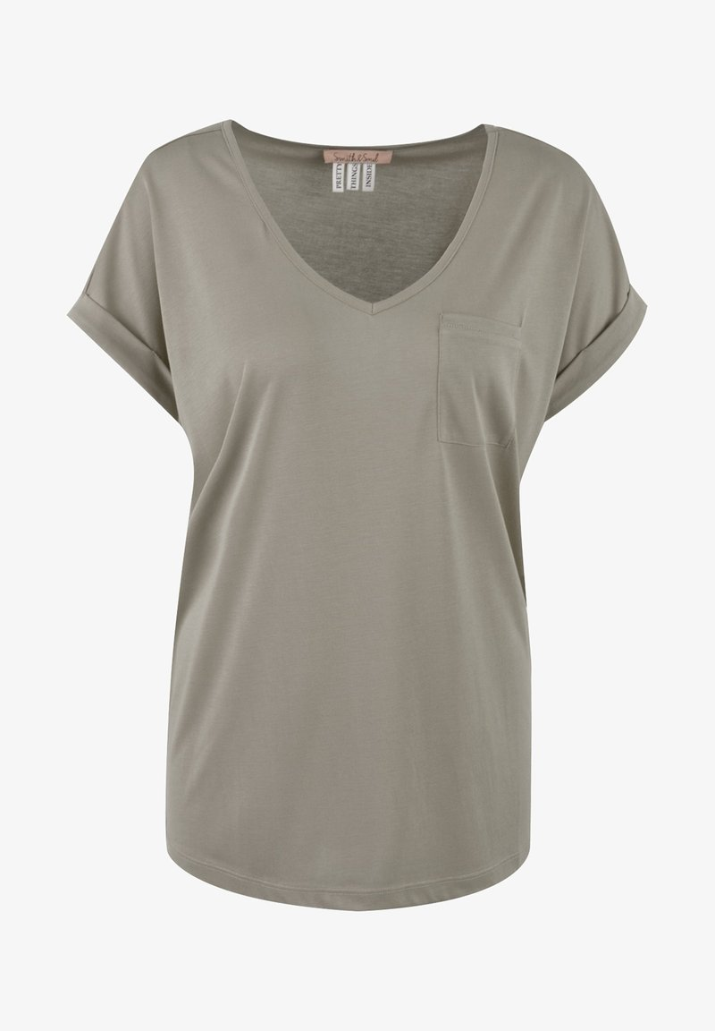 Smith&Soul - Basic T-shirt - mud