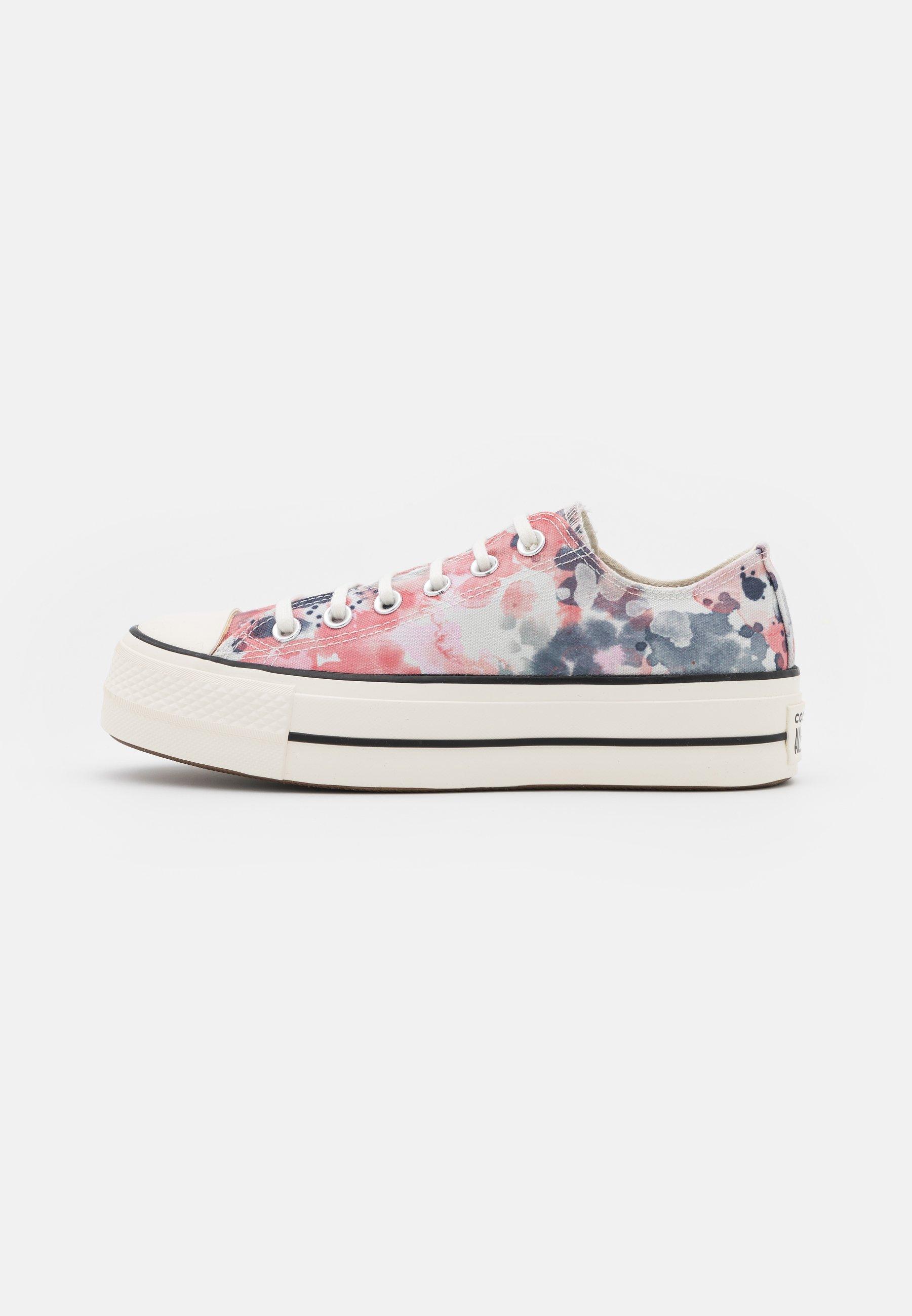 CHUCK TAYLOR ALL STAR PLATFORM - Sneakers basse - egret/terracotta pink/black