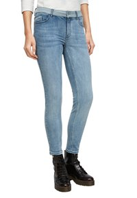 comma casual identity - COUPE DÉLAVÉ - Jeans Skinny Fit - dark blue - 0