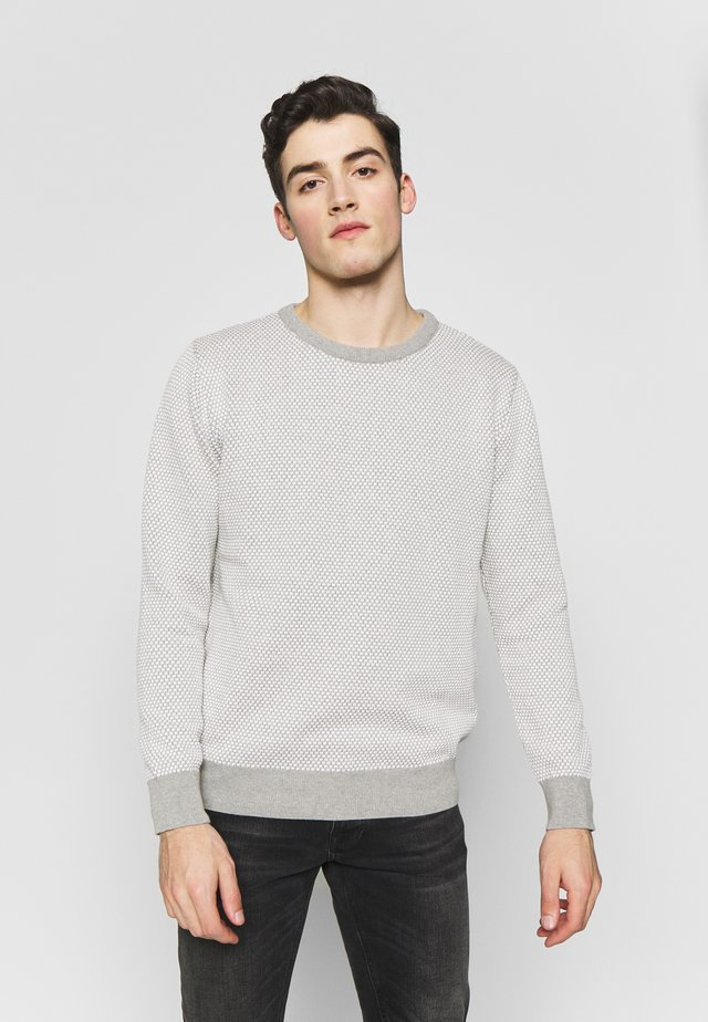 RICE - Sweter - grey mel / off white