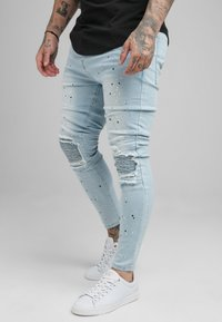 SIKSILK - RIOT BIKER - Jeans Skinny Fit - light wash - 3