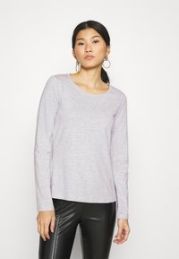 Anna Field - 3 PACK - Camiseta de manga larga - black/white/mottled light grey - 4