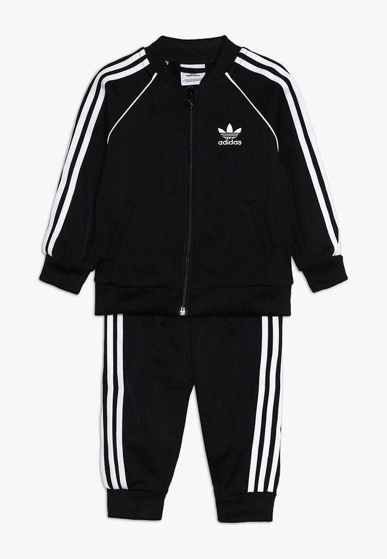 adidas Originals - SUPERSTAR SET - Zip-up hoodie - black/white