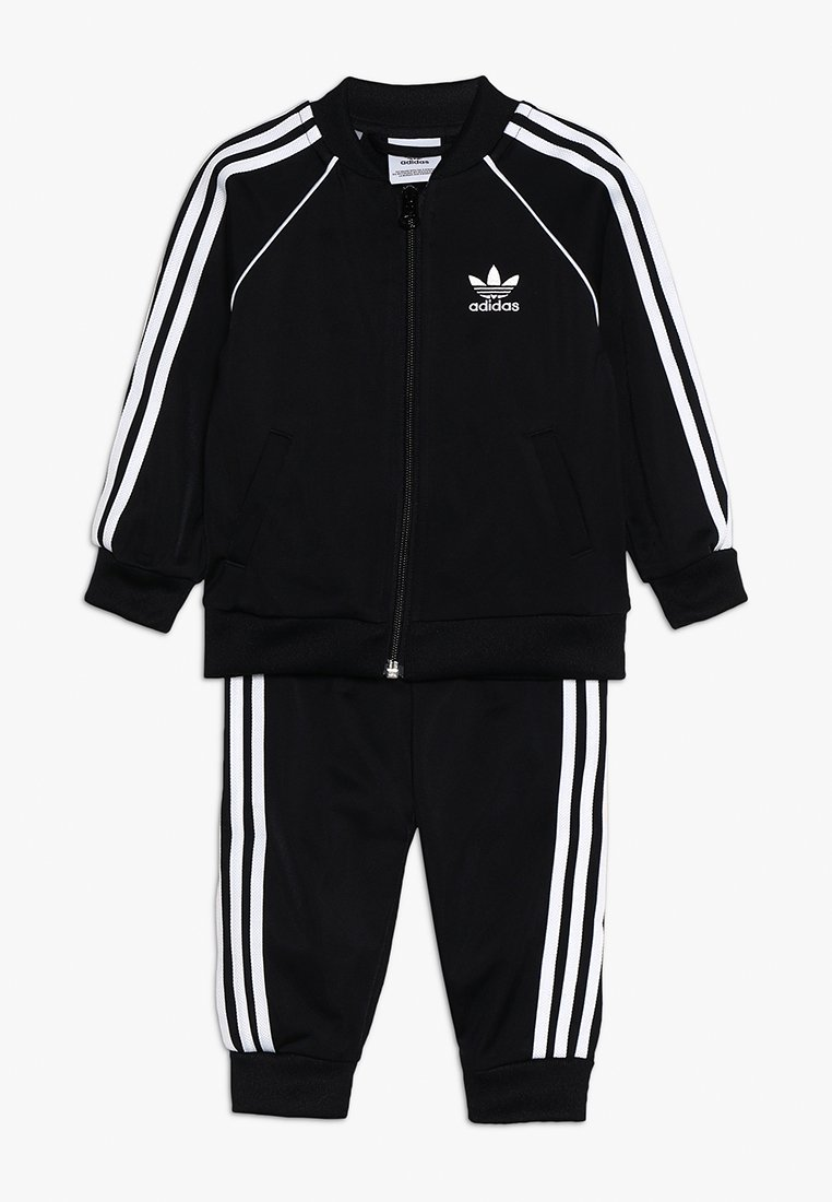 adidas Originals - SUPERSTAR SET - veste en sweat zippée - black/white