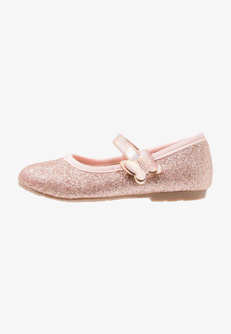 Friboo - Ballerina's met enkelbandjes - rose gold