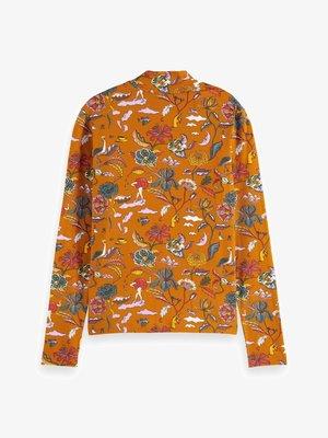 PRINTED LONG SLEEVED HIGH NECK - Camiseta de manga larga - orange