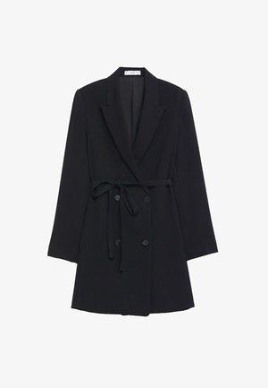 OVERSLAGJURK MET CEINTUUR - Short coat - zwart