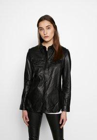 Ibana - MIES - Button-down blouse - black - 0